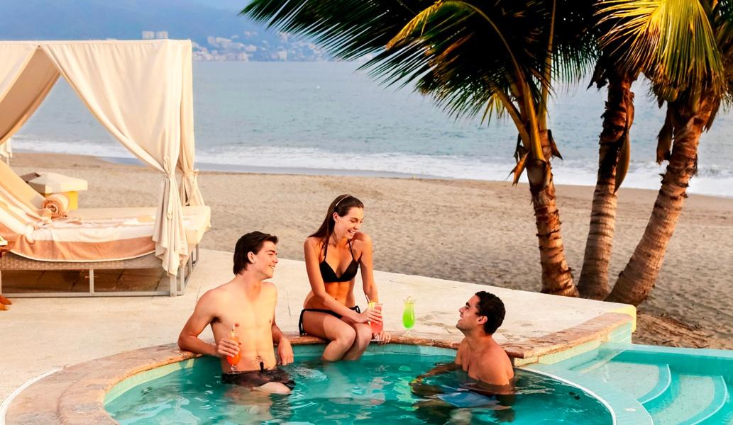 Club de playa en el hotel Casa Velas, Puerto Vallarta