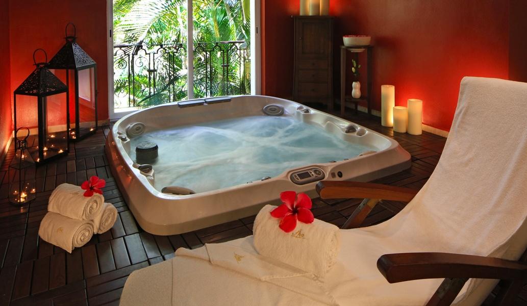 Instalaciones de hidroterapia en el hotel Casa Velas, Puerto Vallarta