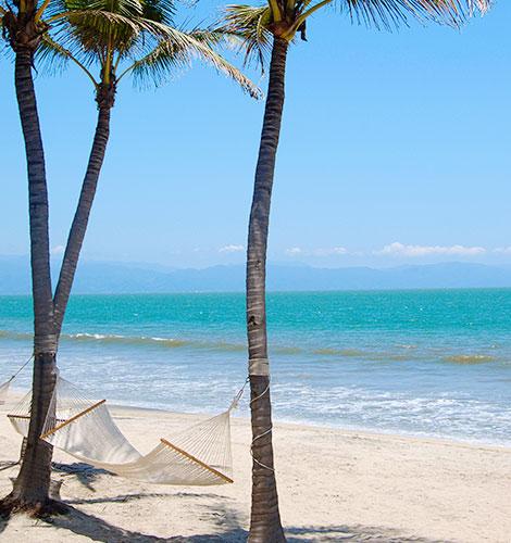 Playa Bucerías en México